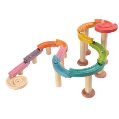 Plan Toys - Kolorowy Tor Kulkowy Delux