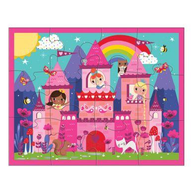 Mudpuppy - Puzzle w Saszetce 12 Elementów Zamek Księżniczek