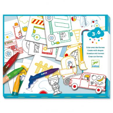 Djeco - Zestaw Kreatywny Świat Pojazdów 3+