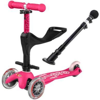 Micro - Hulajnoga Mini Baby Seat 3w1 Deluxe Plus Pink 1+