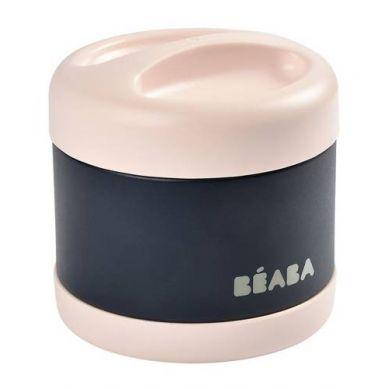 Beaba - Pojemnik - Termos Obiadowy ze Stali Nierdzewnej z Hermetycznym Zamknięciem Duży 500 ml Light Pink/Night Blue