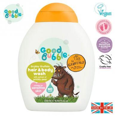 Good Bubble - Organiczny Żel Wegański do Mycia Włosów i Ciała Noworodka i Niemowlaka Prickly Pear 250 ml