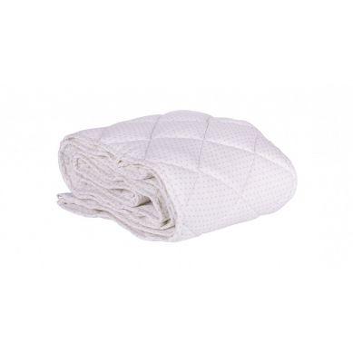 Effii - Ochraniacz Pikowany na Całe Łóżeczko 70x140 Biały w Szare Kropki