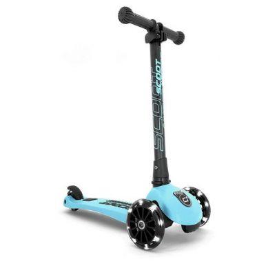 Scootandride - Highwaykick 3 LED Hulajnoga Składana ze Świecącymi Kółkami 3+ Blueberry