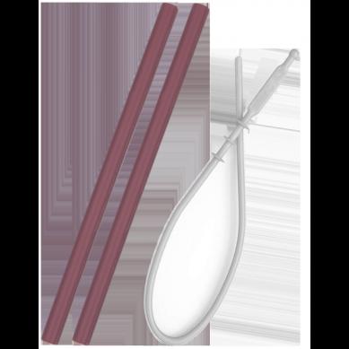 Minikoioi - Słomki Silikonowe 2szt z Czyścikiem Różane