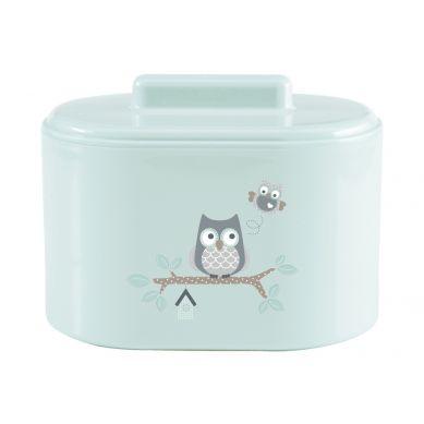 Bebe-Jou - Pojemnik na Akcesoria Higieniczne Miętowe Sówki