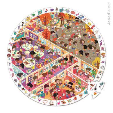 Janod - Puzzle Obserwacyjne w Walizce Szkoła