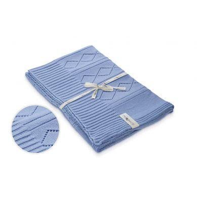 Molomoco - Kocyk Niemowlęcy Silene Niebieski