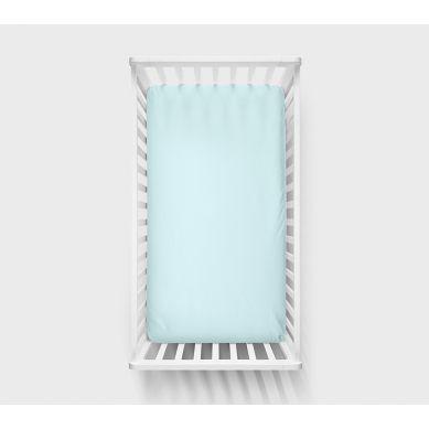 Lullalove - Bawełniane Prześcieradło Pastele 120x60 Niebieski