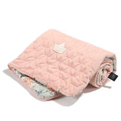La Millou - Kocyk Średniaka Velvet Collection Blooming Boutique - Powder Pink 80x100cm