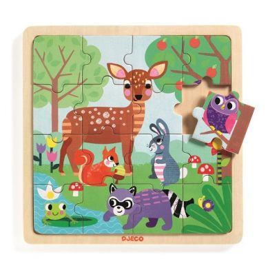 Djeco - Edukacyjne Puzzle Drewniane Las