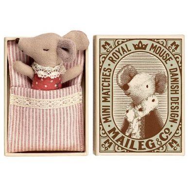 Maileg - Przytulanka Śpiąca Myszka w Pudełeczku