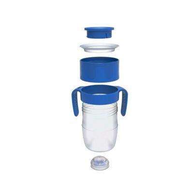 LiteCup - Świecący Kubeczek Niekapek z Uchwytami Niebieski
