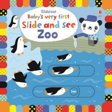 Wydawnictwo Usborne Publishing - Baby's Very First Slide And See Zoo