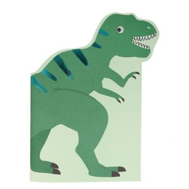 Meri Meri - Szkicownik z Naklejkami Dinozaur 3+