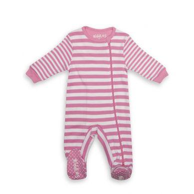 Juddlies - Pajacyk Sachet Pink Stripe 3-6m
