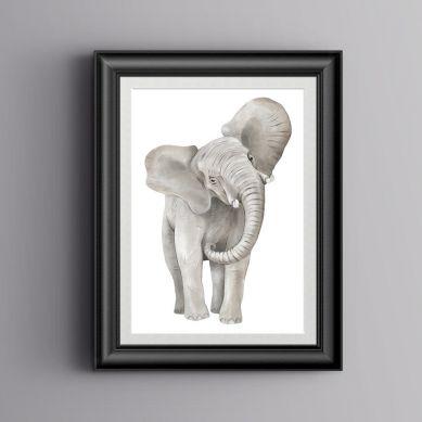 Pastelowelove - Plakat Słoń 30x40 cm