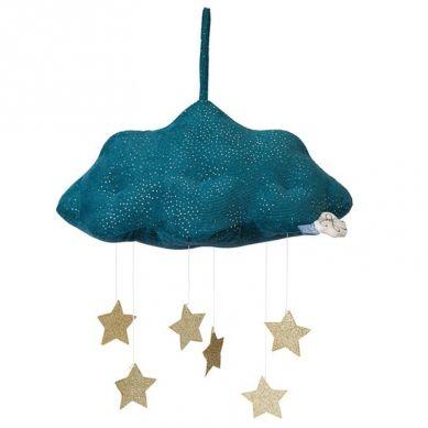 Picca LouLou - Zawieszka Mobile Sparkle Cloud Blue with Stars 34 cm