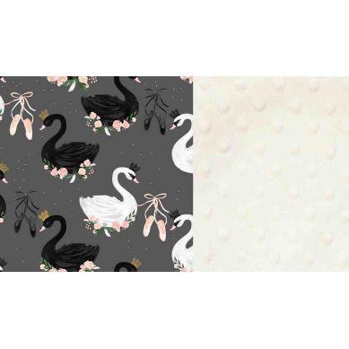 La Millou - Kocyk Niemowlaka 65x75 cm Black Swan Ecru