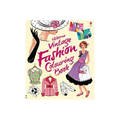 Wydawnictwo Usborne Publishing - Vintage Fashion Colouring Book