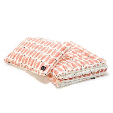 La Millou - Komplet Pościeli M Penguin Pepe Confetti Pink