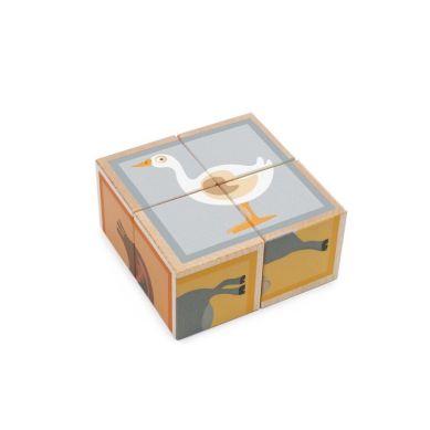 Scratch - Puzzle 4 Klocki Farma 2 Drewniane
