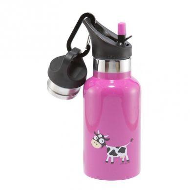 Carl Oscar - Temp Bottle Butelka Termiczna ze Słomką ze Szlachetnej Stali Nierdzewnej Purple Cow