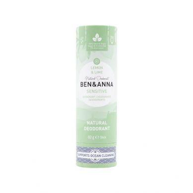 Ben and Anna - Naturalny Dezodorant bez Sody w Sztyfcie Kartonowym Lemon i Lime 60 g