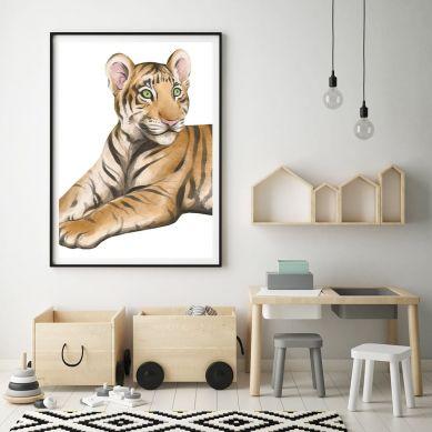 Pastelowelove - Plakat Tygrys 30x40 cm