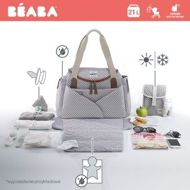 Beaba - Torba dla Mamy Sydney Play Print Grey