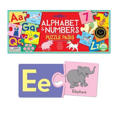 Eeboo - Puzzle Pairs Alphabet & Numbers