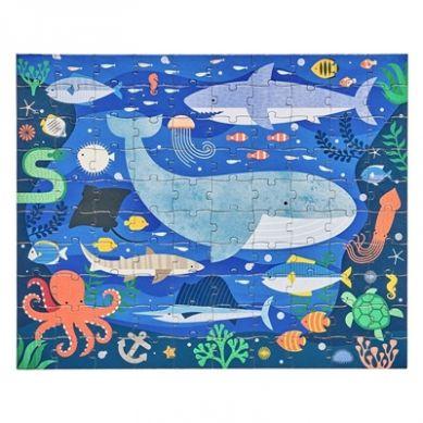Petit Collage - Puzzle Dwustronne w Torebce Zwierzęta Podwodne 5+