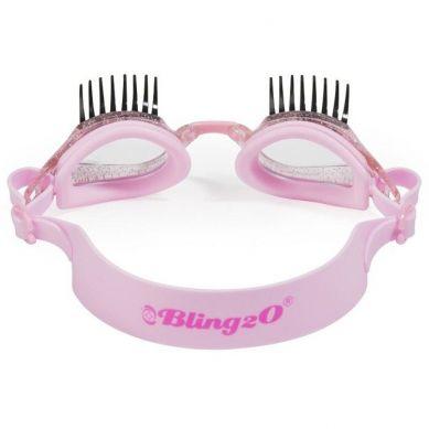 Bling2O - Okulary do Pływania Różowe Rzęsy 3+