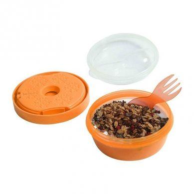 Carl Oscar - N'ice Cup™ Pojemnik Śniadaniowy z Wkładem Chłodzący Orange Moose