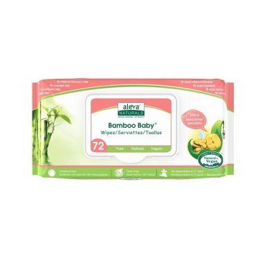 Aleva Naturals -  Bambusowe Chusteczki Sensitive 72szt