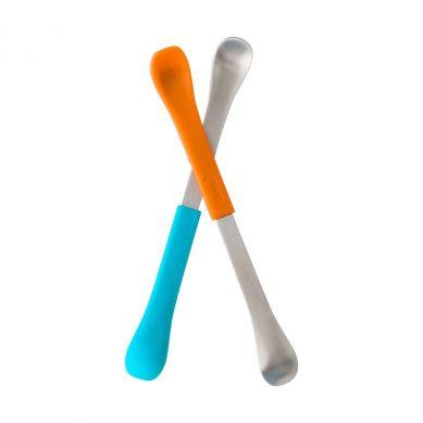 Boon Dwustronne Łyżeczki Orange/Blue