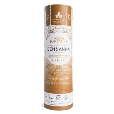 Ben and Anna - Naturalny Dezodorant na Bazie Sody Indian Mandarine w Sztyfcie Kartonowym