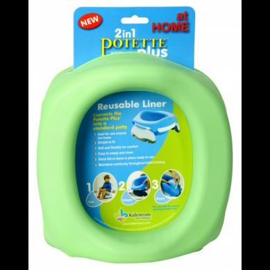 Potette Plus - Silikonowy Wielorazowy Wkład na Nocnik Zielony