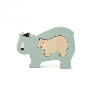 Trixie - Drewniane Puzzle Mr Polar Bear