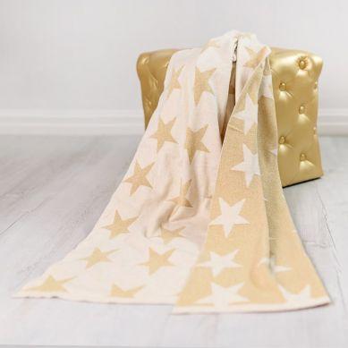 Bizzi Growin - Kocyk Tkany Złote Gwiazdy