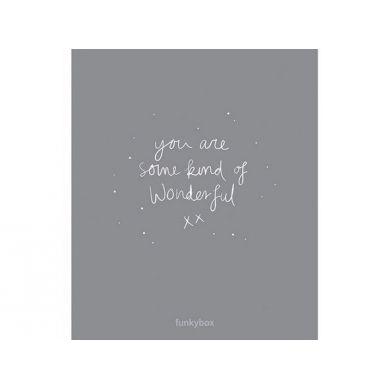 Funkybox - Plakat Dziecięcy Dark Grey Wonderful 30x42cm
