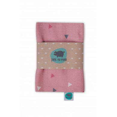 Pink no More - Kocyk Muślinowo-bambusowy Trójkąty Róż