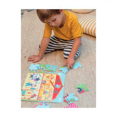 Apli Kids - Puzzle w Kartonowym Domku Na Wsi 3+