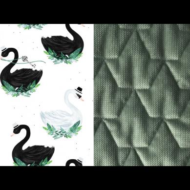 La Millou - Podusia do Wózka Velvet Collectrion Jungle Swan Khaki