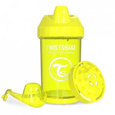 Twistshake - Kubek Niekapek z Mikserem do Owoców 300ml Żółty