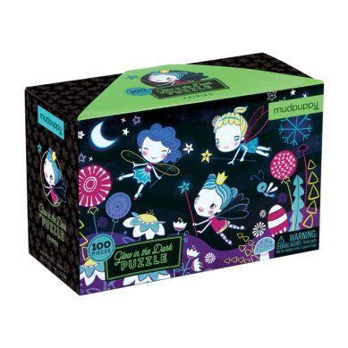 Mudpuppy - Puzzle Świecące w Ciemności Wróżki 100 Elementów