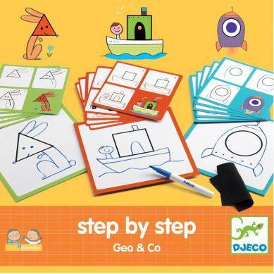 Djeco - Nauka Rysowania Krok Po Kroku Geo