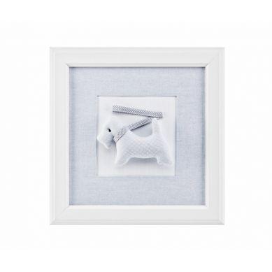 Caramella - Obrazek Pure Grey z Pieskiem ze Smyczką