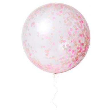 Meri Meri - Balon Gigant Konfetti Różowe