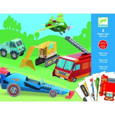 Djeco - Składanki Papierowe Pojazdy